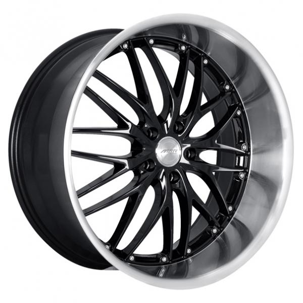 GT1 BLACK RIM with MACHINED LIP by MRR DESIGN WHEELS