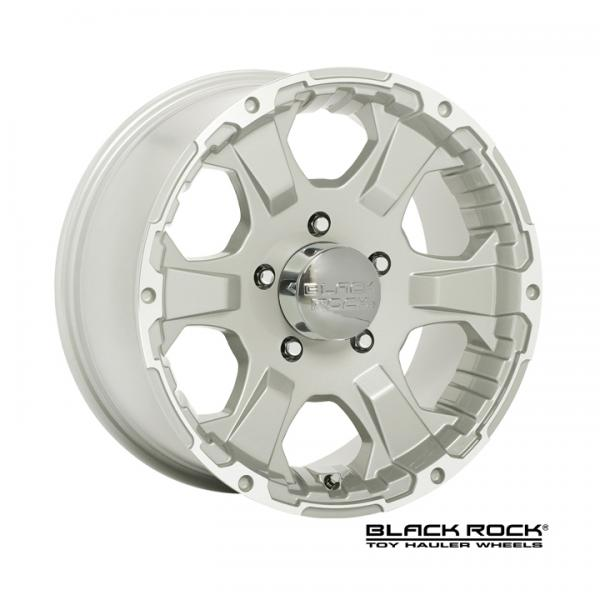 910S INTRUDER TOY HAULER SILVER RIM - Caps Not Included $15 Per Cap by BLACK ROCK WHEELS