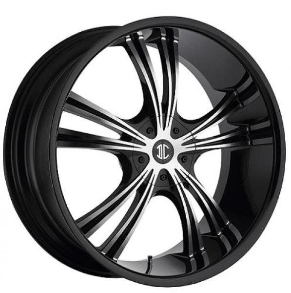 2 CRAVE N02 BLACK/MACHINED RIM by 2 CRAVE WHEELS