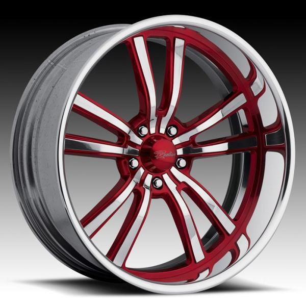 STATIC 5 RED RIM with POLISHED FINISH by RACELINE WHEELS