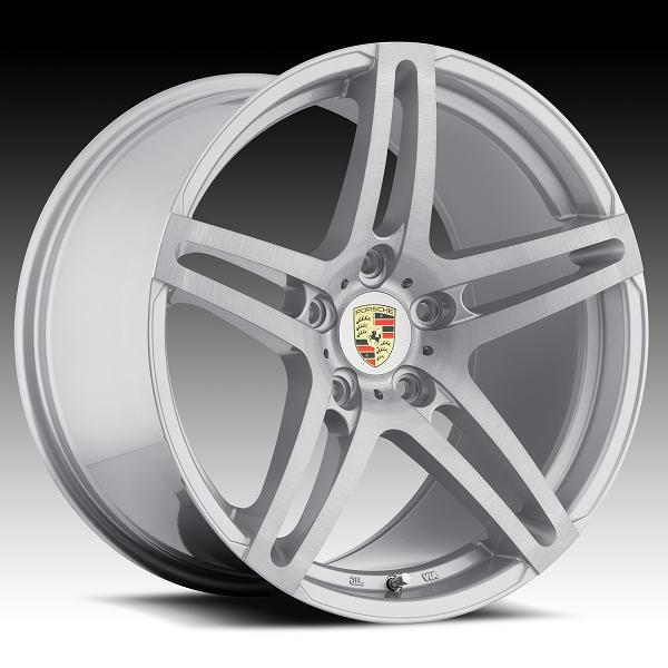 RW5 PORSCHE SILVER RIM with BRUSHED FACE by RODERICK LUXURY WHEELS