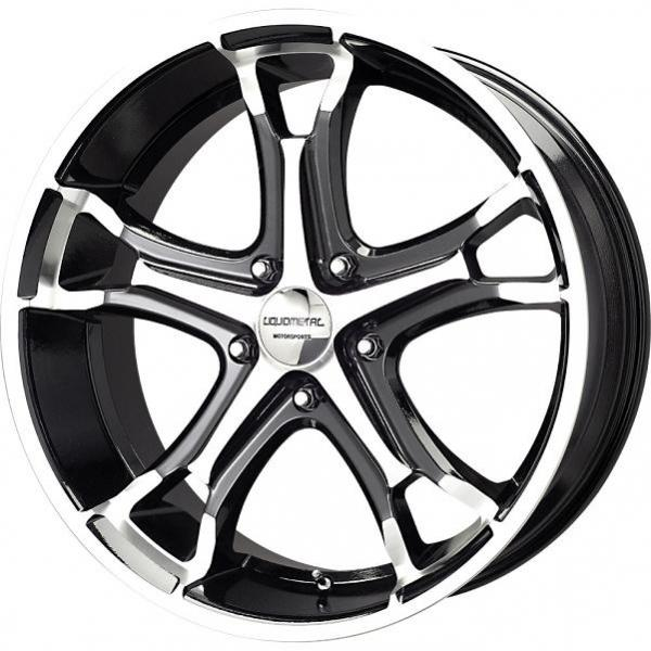 COIL 5 BLACK RIM with MACHINED FACE by LIQUID METAL WHEELS