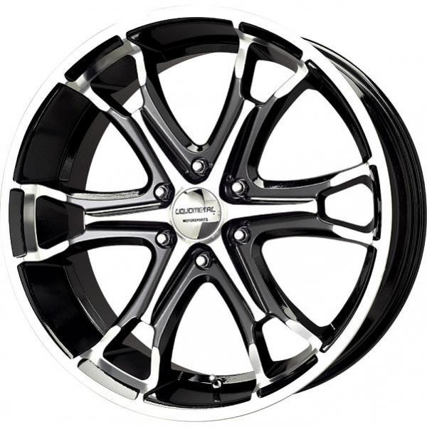 COIL 6 BLACK RIM with MACHINED FACE by LIQUID METAL WHEELS