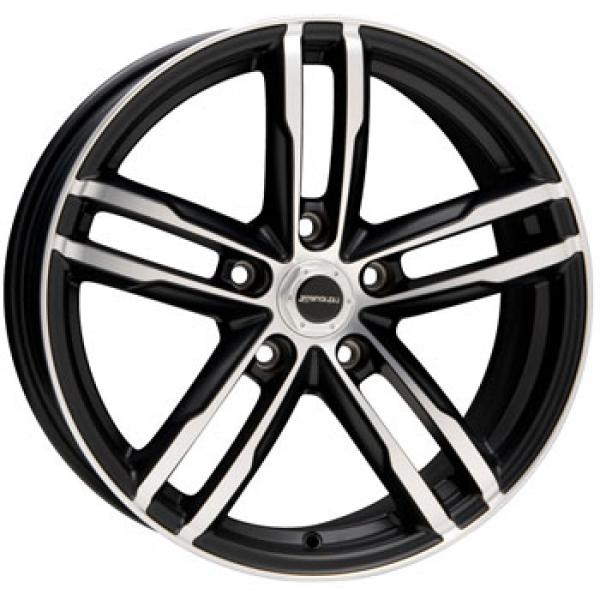 CURVE BLACK RIM with MACHINED FACE by LIQUID METAL WHEELS