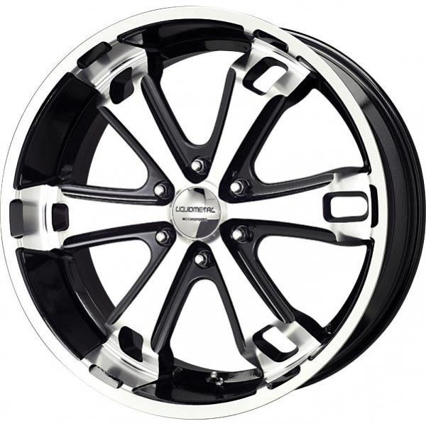 DYNO 6 BLACK RIM with MACHINED FACE by LIQUID METAL WHEELS