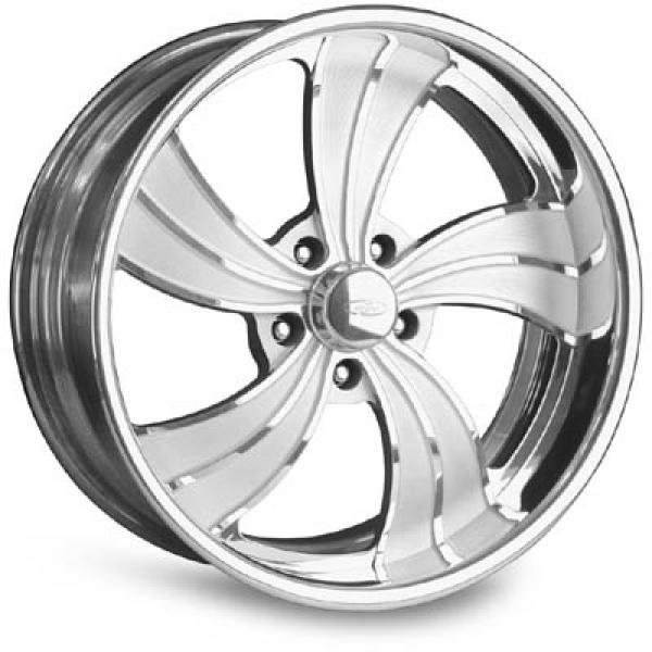 TWISTED VISTA II POLISHED RIM with FLUTED SPOKES by INTRO WHEELS