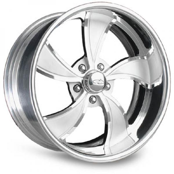 TWISTED VISTA POLISHED RIM with FLUTED SPOKES by INTRO WHEELS