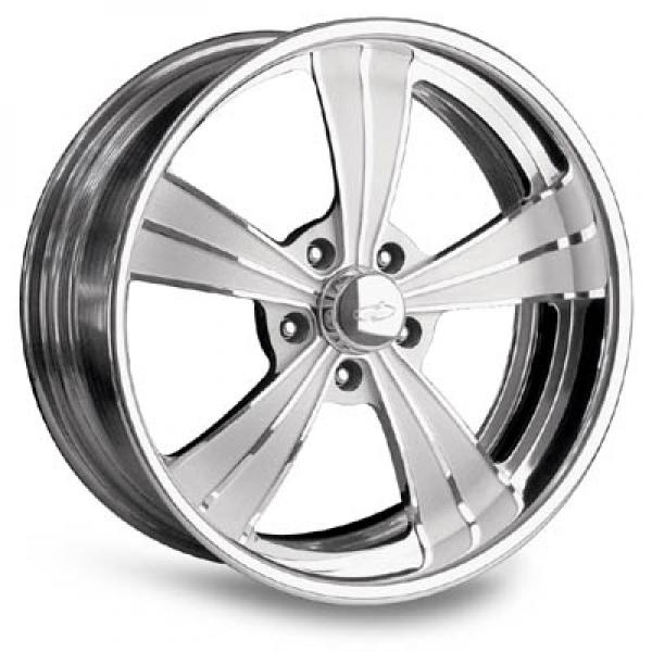 VISTA II POLISHED RIM with FLUTED SPOKES by INTRO WHEELS