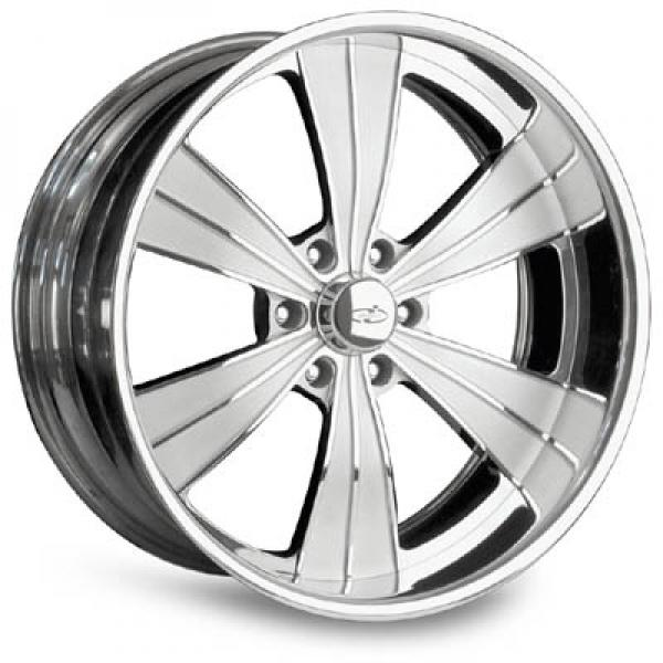 VISTA II 6 POLISHED RIM with FLUTED SPOKES by INTRO WHEELS