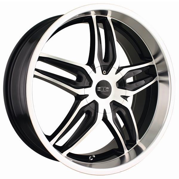 BIONIC D63 BLACK RIM with MACHINED FACE and LIP by DIP WHEELS