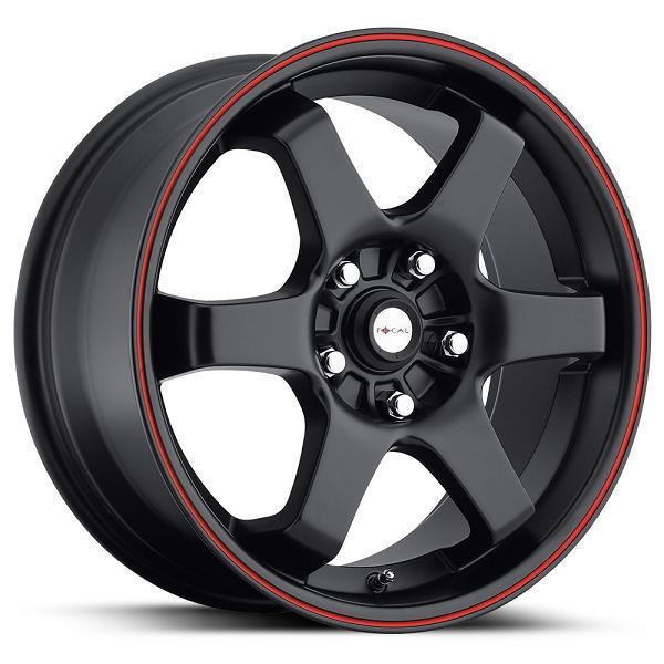 X 421 MATTE BLACK RIM with RED STRIPE by FOCAL WHEELS