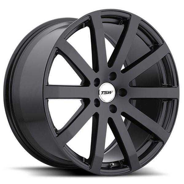 BROOKLANDS MATTE BLACK RIM by TSW WHEELS
