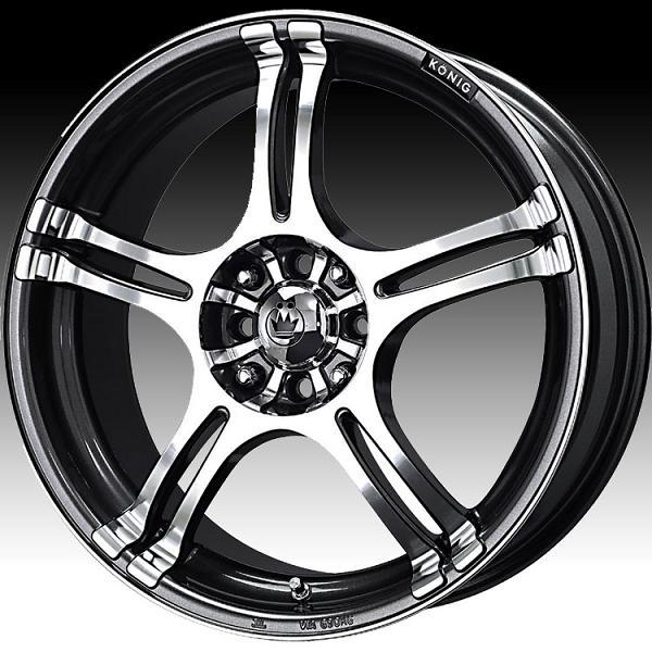 INCIDENT GRAPHITE RIM with MACHINED FACE by KONIG WHEELS