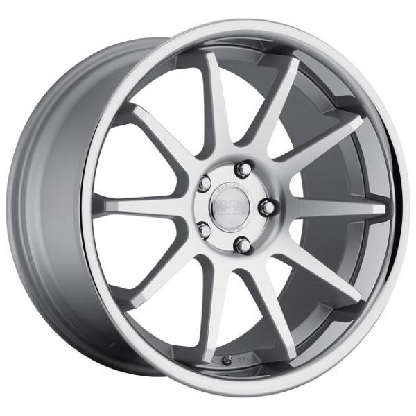 CS-10 MATTE SILVER RIM with MACHINED FACE by CONCEPT ONE WHEELS