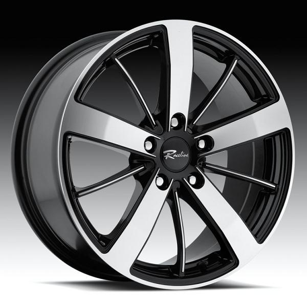 196 SNIPER BLACK RIM woth MACHINED FACE by RACELINE WHEELS