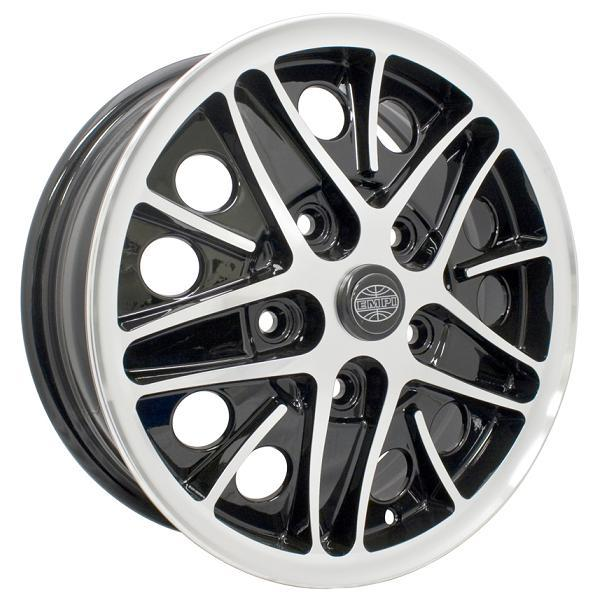 COSMO GLOSS BLACK RIM with POLISHED LIP and SPOKE EDGES by EMPI VINTAGE VW