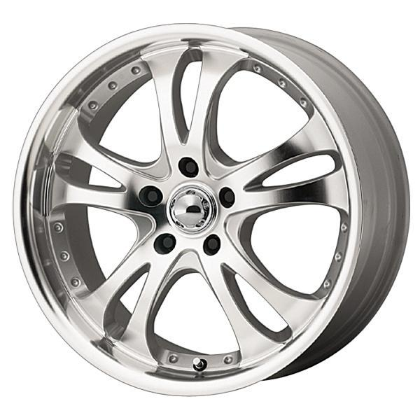 AMERICAN RACING AR383 CASINO SILVER RIM with MACHINED FACE and LIP PPT by SPECIAL BUY WHEELS