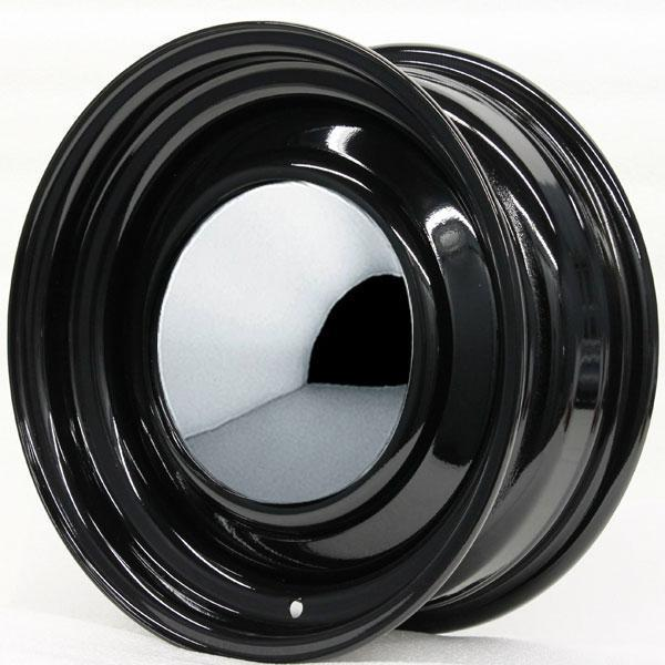 SMOOTHIE BLACK WITH CUSTOM CAP AND TRIM RING by HRH STEEL WHEELS