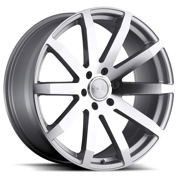 TRAVERSE SILVER RIM with MIRROR CUT FACE by BLACK RHINO WHEELS