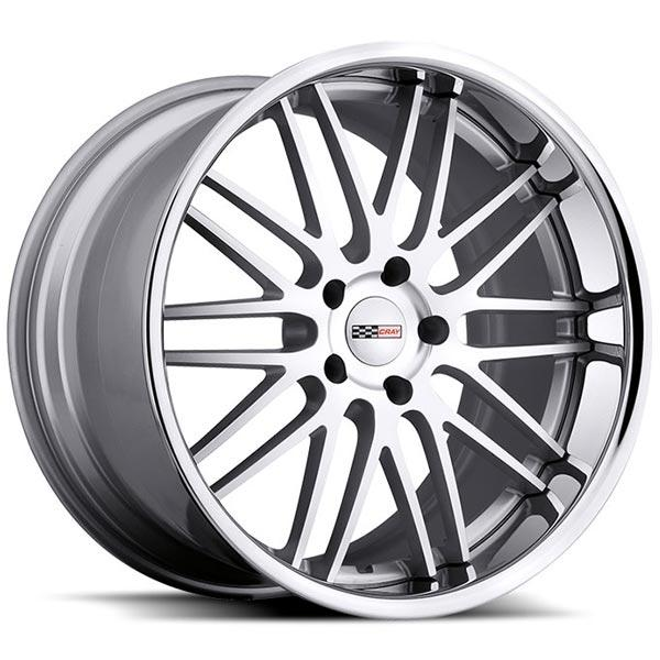 HAWK SILVER RIM with MACHINED FACE and CHROME STAINLESS LIP by CRAY WHEELS