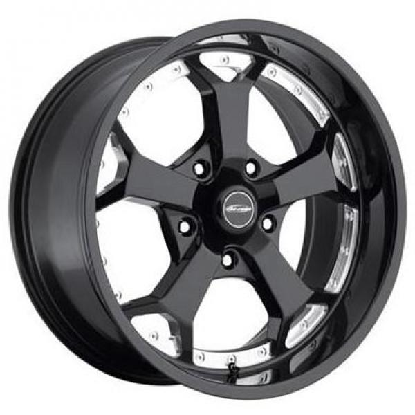 ADRENALINE SERIES 8180 5-SPOKE GLOSS BLACK RIM with MACHINED ACCENTS by PRO COMP ALLOYS WHEELS