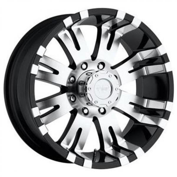 SERIES 8101 GLOSS BLACK RIM with MACHINED FACE by PRO COMP ALLOYS WHEELS