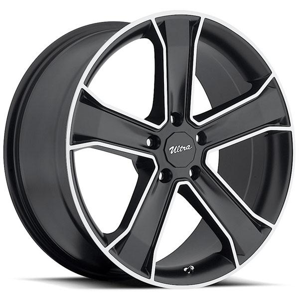 MUSCLE KNIGHT 423 GLOSS BLACK RIM with DIAMOND CUT ACCENTS by ULTRA WHEELS
