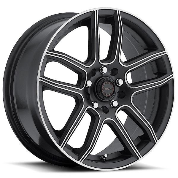 F03 425 SATIN BLACK RIM with MACHINED ACCENTS by FOCAL WHEELS