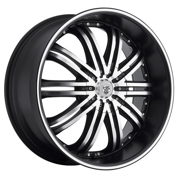 532MB SATIN BLACK RIM with MIRROR MACHINED FACE and LIP GROOVE by TIS WHEELS