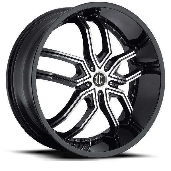 2 CRAVE N20 GLOSSY BLACK WITH MACHINED FACE by 2 CRAVE WHEELS