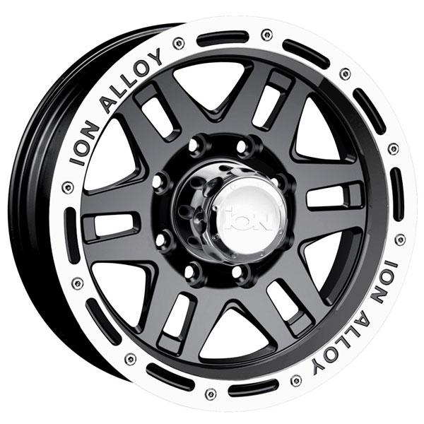 TYPE 133 BLACK RIM with MACHINED LIP by ION ALLOY WHEELS