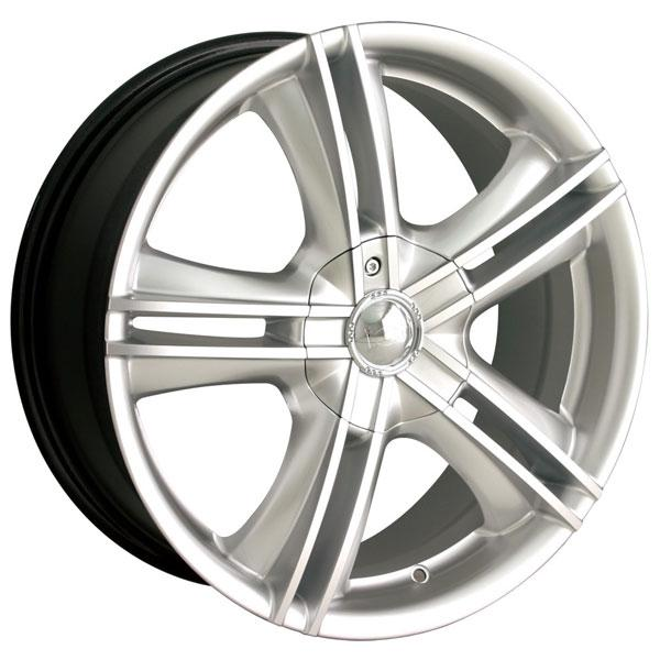 TYPE 161 HYPER SILVER RIM with MACHINED FACE by ION ALLOY WHEELS