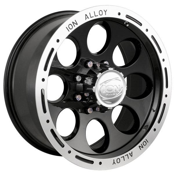 TYPE 174 BLACK RIM with MACHINED LIP by ION ALLOY WHEELS