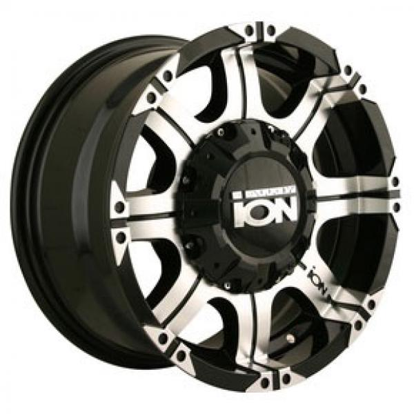 TYPE 187 BLACK RIM with MACHINED FACE and LIP by ION ALLOY WHEELS