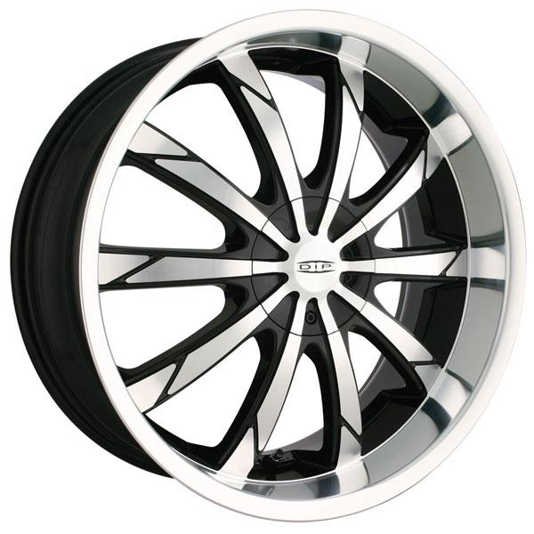 SLACK D66 BLACK RIM with MACHINED FACE and LIP by DIP WHEELS