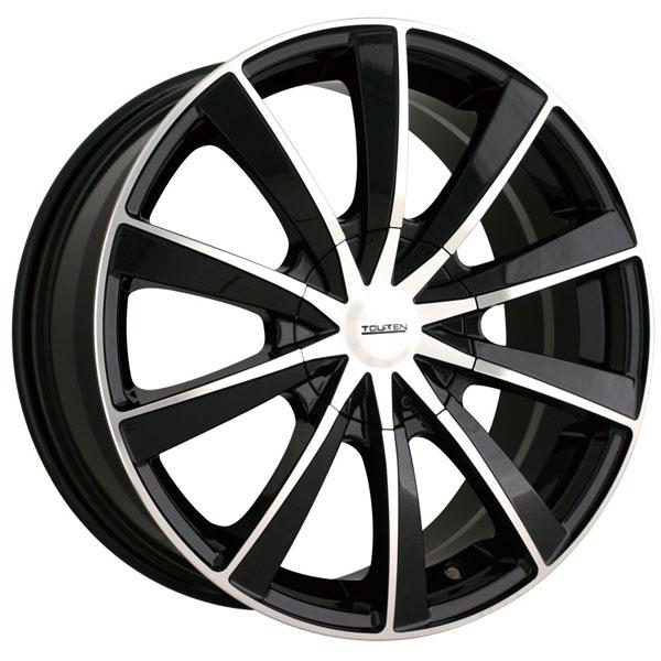 TR10 BLACK RIM with MACHINED FACE by TOUREN WHEELS