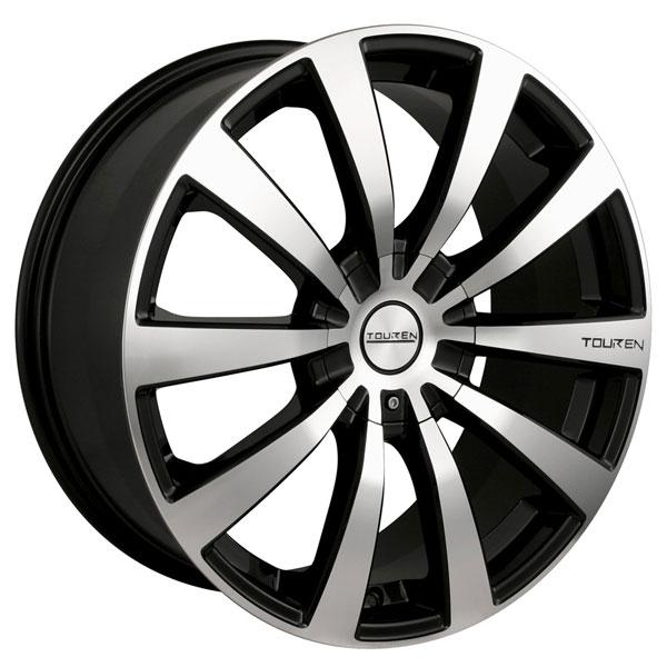 TR3 BLACK RIM with MACHINED FACE by TOUREN WHEELS