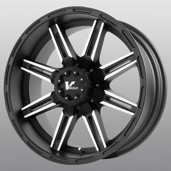 VR7 MATTE BLACK RIM with MACHINED FACE by V-ROCK WHEELS