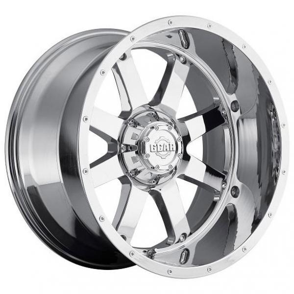 726C BIG BLOCK CHROME PLATED RIM with COVERED CAP by GEAR ALLOY WHEELS
