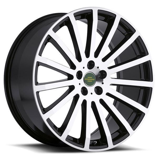 DOMINUS GLOSS BLACK RIM with MIRROR CUT FACE by REDBOURNE WHEELS