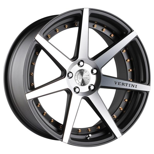 DYNASTY GUNMETAL RIM with MACHINED FACE by VERTINI WHEELS