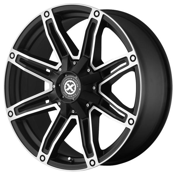 AX193 AXE SATIN BLACK RIM with MACHINED FACE by ATX SERIES WHEELS