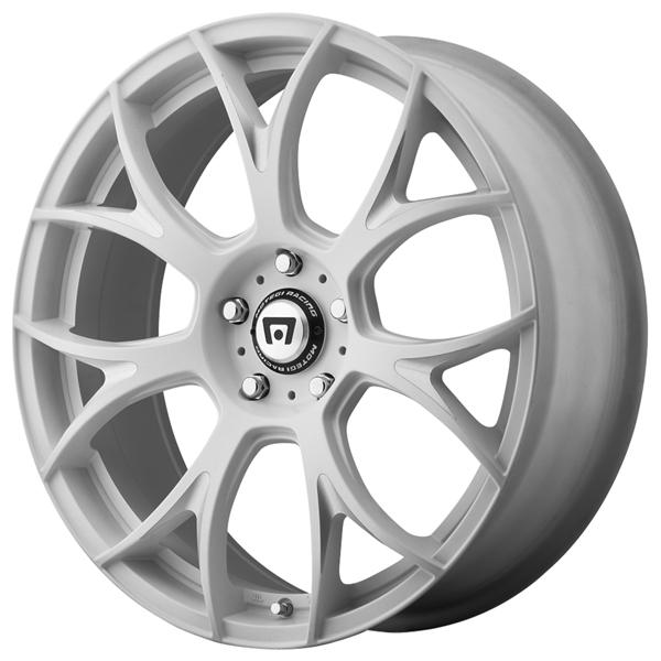 MR126 MATTE WHITE MILLED RIM by MOTEGI RACING WHEELS