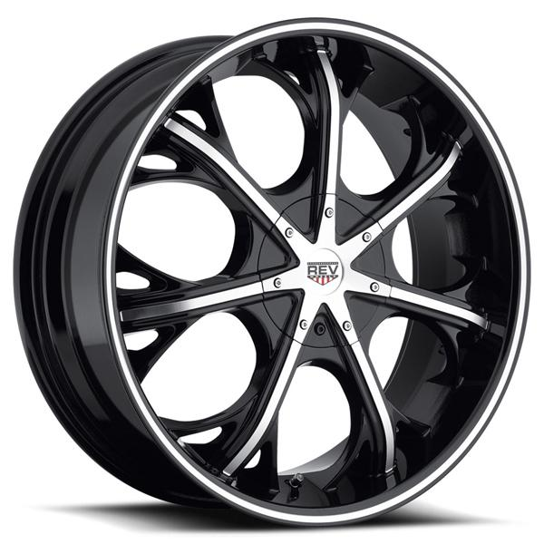 FWD 282 BLACK RIM with MACHINED FACE by REV WHEELS