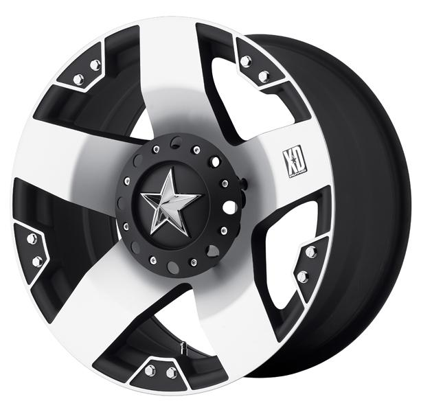 XD775 ROCKSTAR BLACK RIM with MACHINED FACE by XD SERIES WHEELS