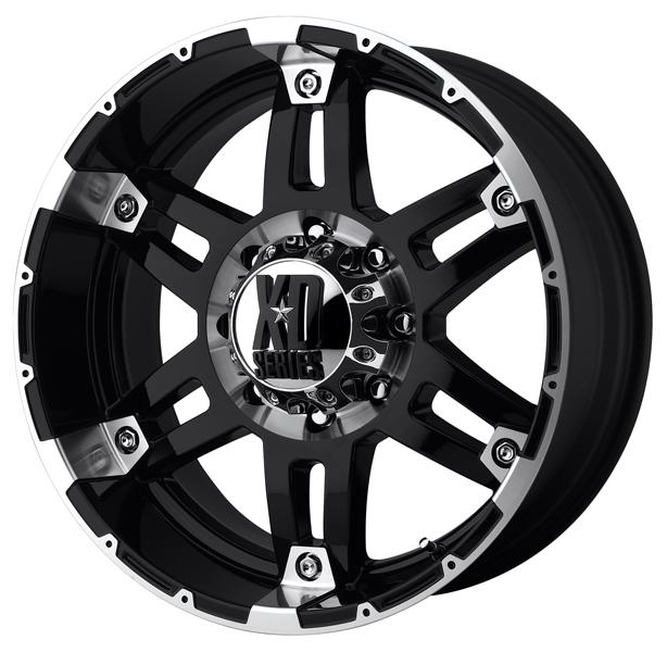 XD797 SPY GLOSS BLACK RIM with MACHINED ACCENTS by XD SERIES WHEELS