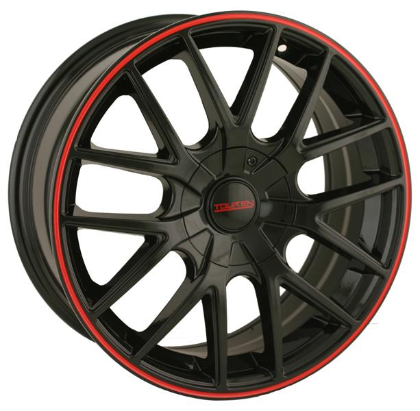 TR60 BLACK RIM with RED RING by TOUREN WHEELS