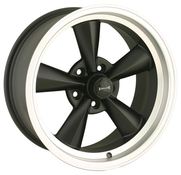 STYLE 675 BLACK RIM with MACHINED RING by RIDLER WHEELS