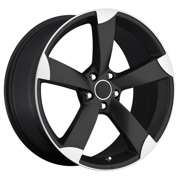 AUDI A5 STYLE 85 BLACK RIM with MACHINED ACCENTS by FACTORY REPRODUCTIONS WHEELS