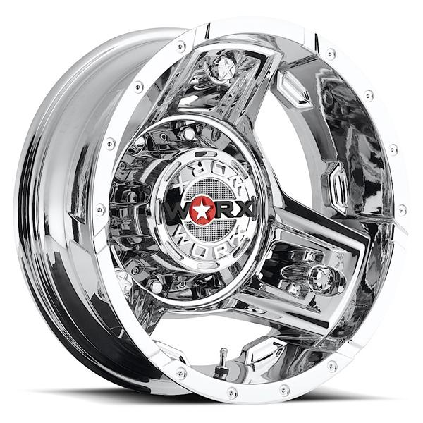 801 TRIAD DUALLY CHROME RIM REAR by WORX WHEELS